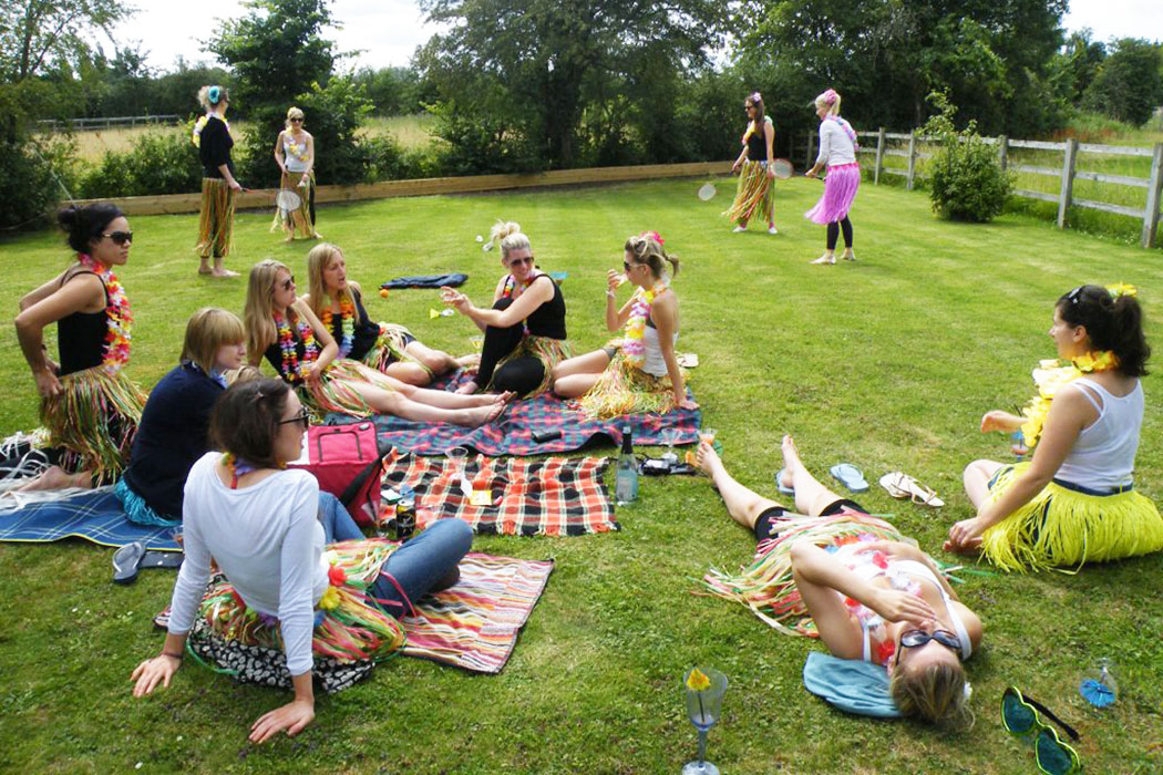 Hen party in the garden at The Wilderness