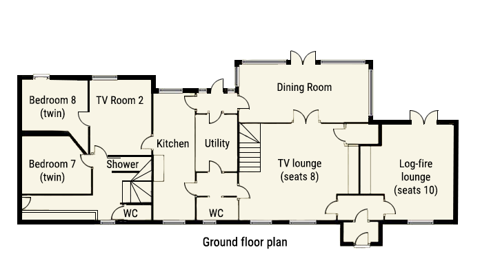 First Floor plan of The Wilderness Holiday Cottage