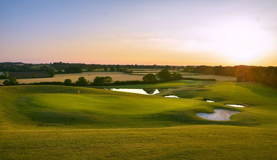 Chippenham golf club at sunset - one of many local golf courses!