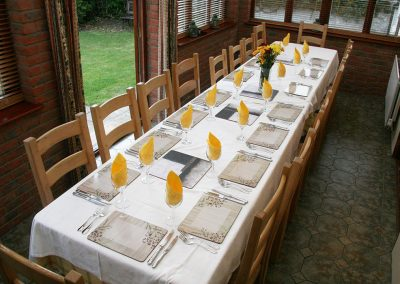 Dining table seats 18