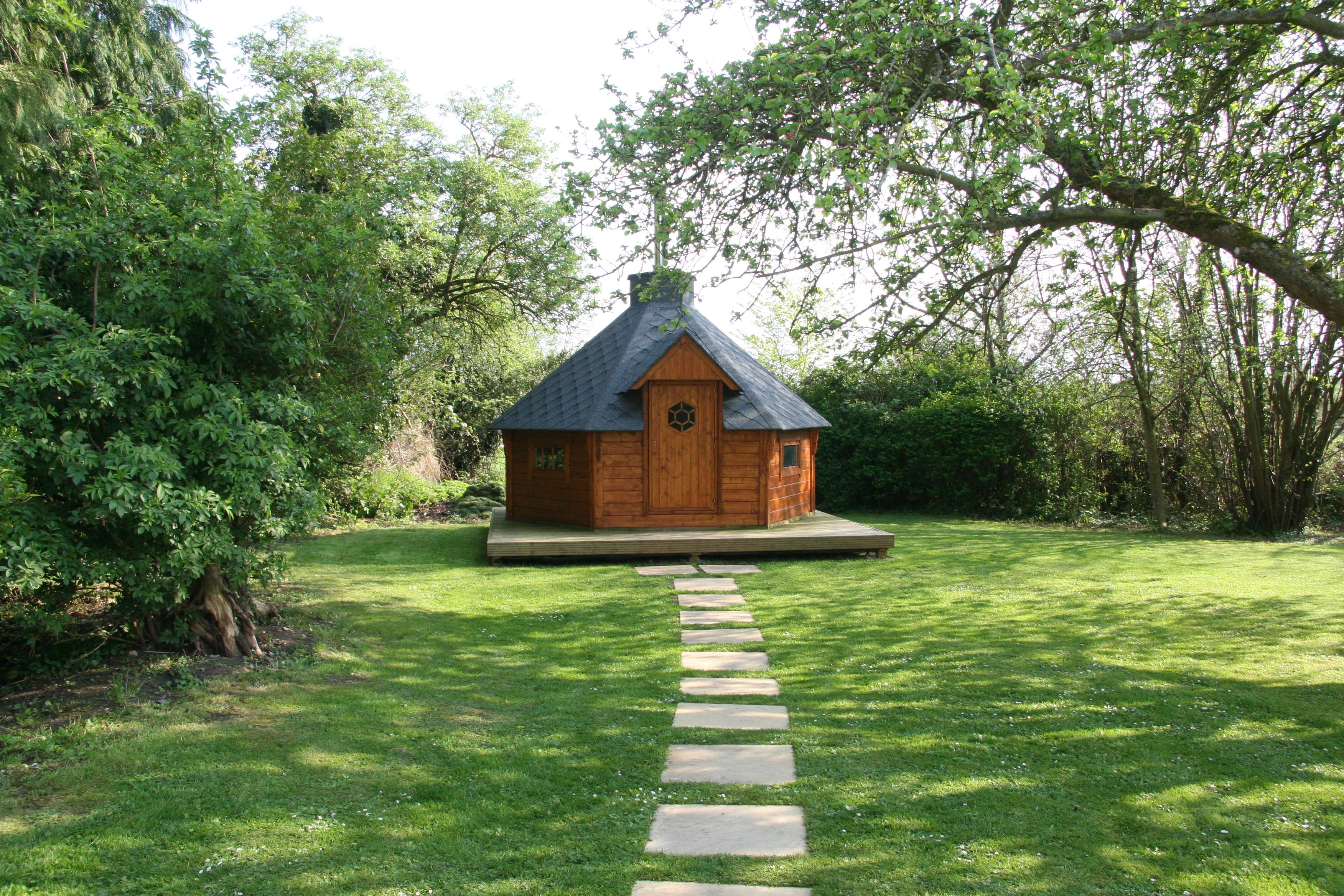 Log fired Finnish sauna house